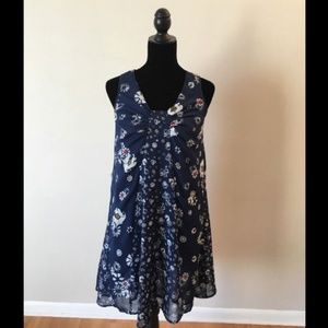 Jason Wu for Target Navy Floral Sleeveless Dress
